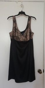 BNWT Black Cocktail Dress with Cream Top with Lace